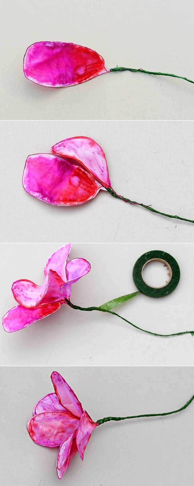 How to make fabric flowers from upcycled bed sheets