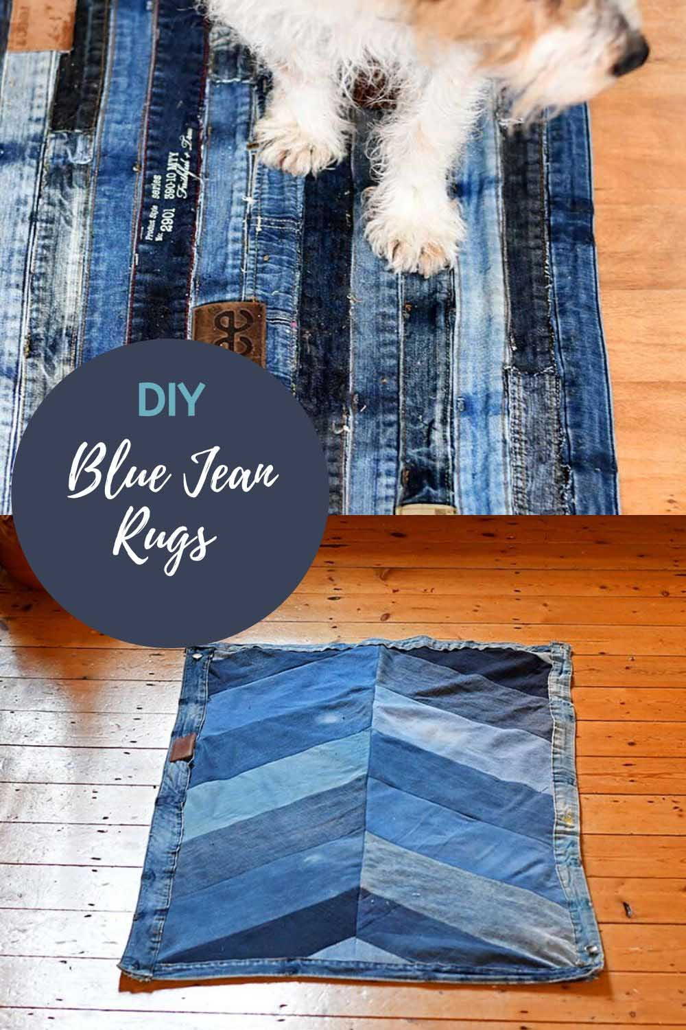 Upcycled denim rugs