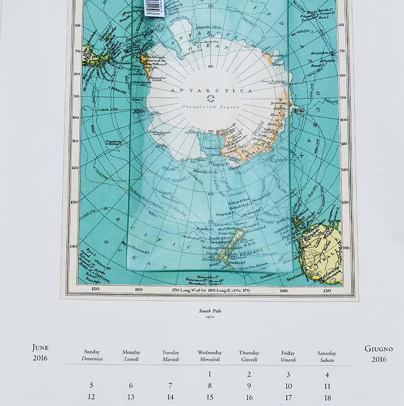 Antarctica calendar  map