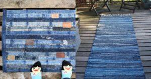 15 diy denim rugs