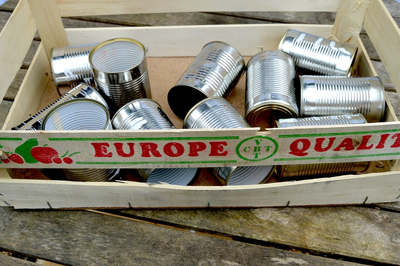 Empty tin cans