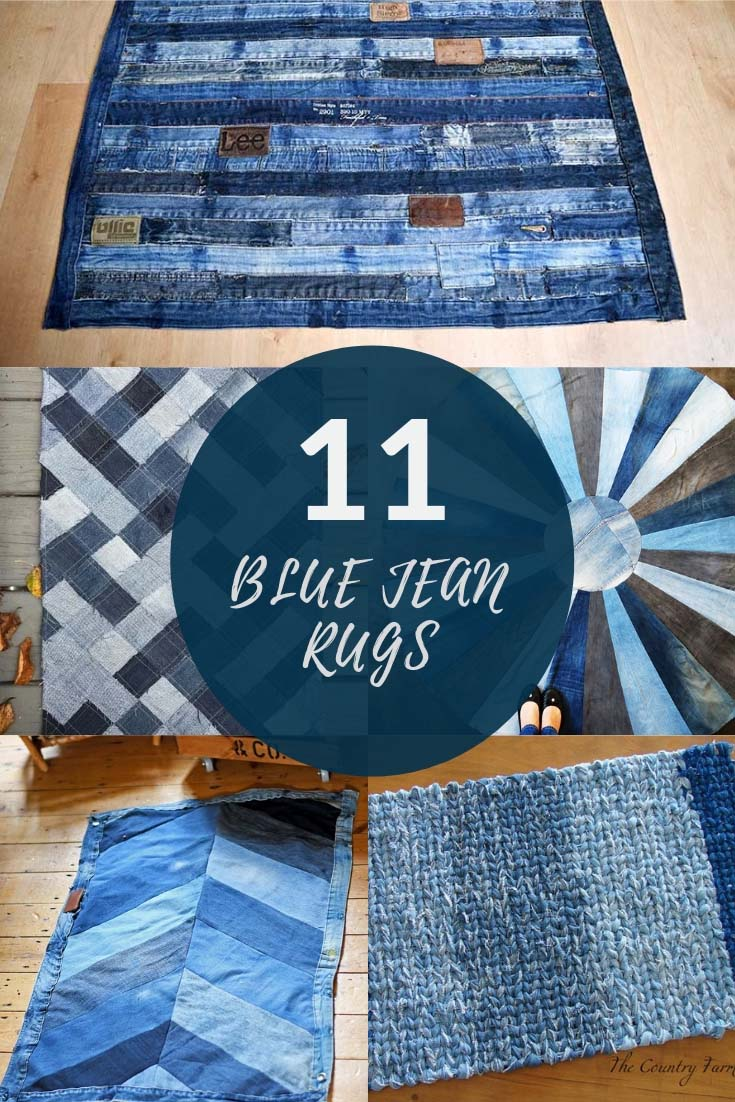 4c7058478b38 How To Make A Blue Jean Rug