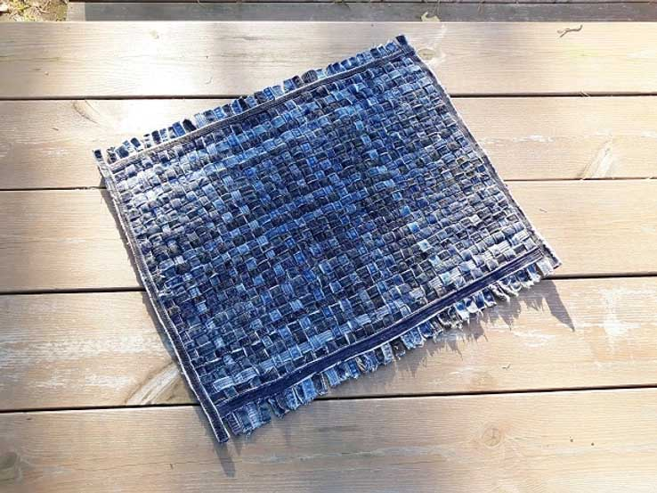 blue jean rug upcycle