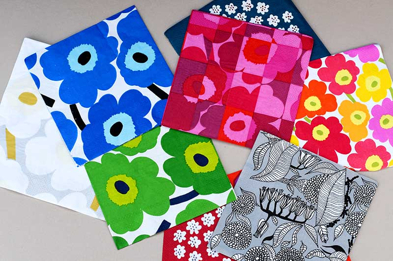 Selection of Marimekko paper napkins