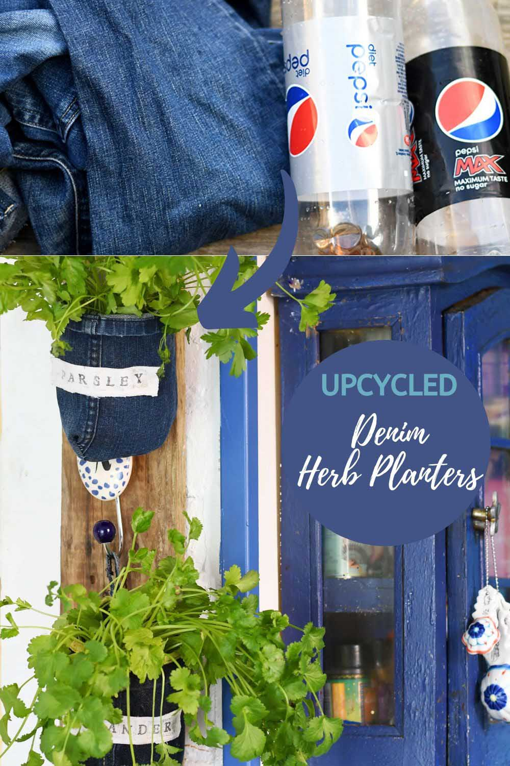 upcycled indoor herb planters