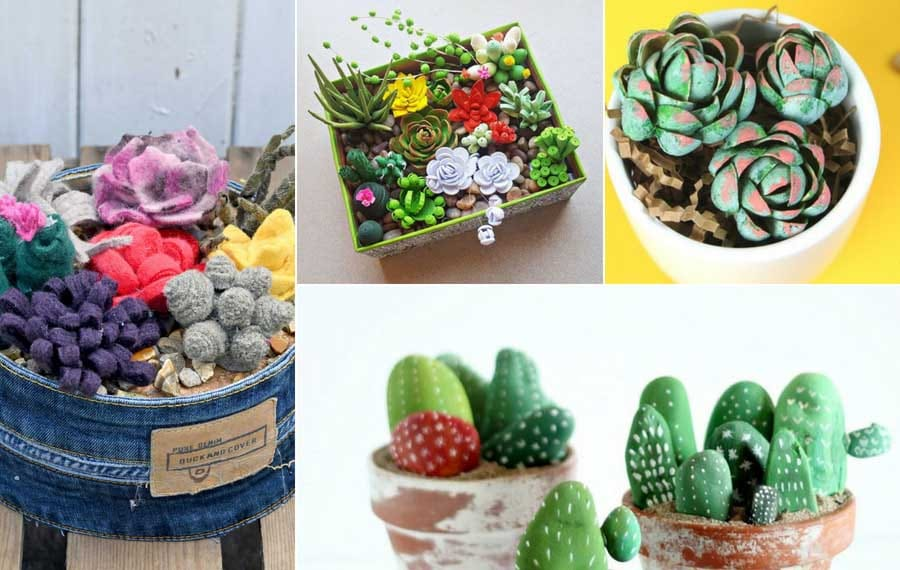 AMAZING fake succulents and cacti