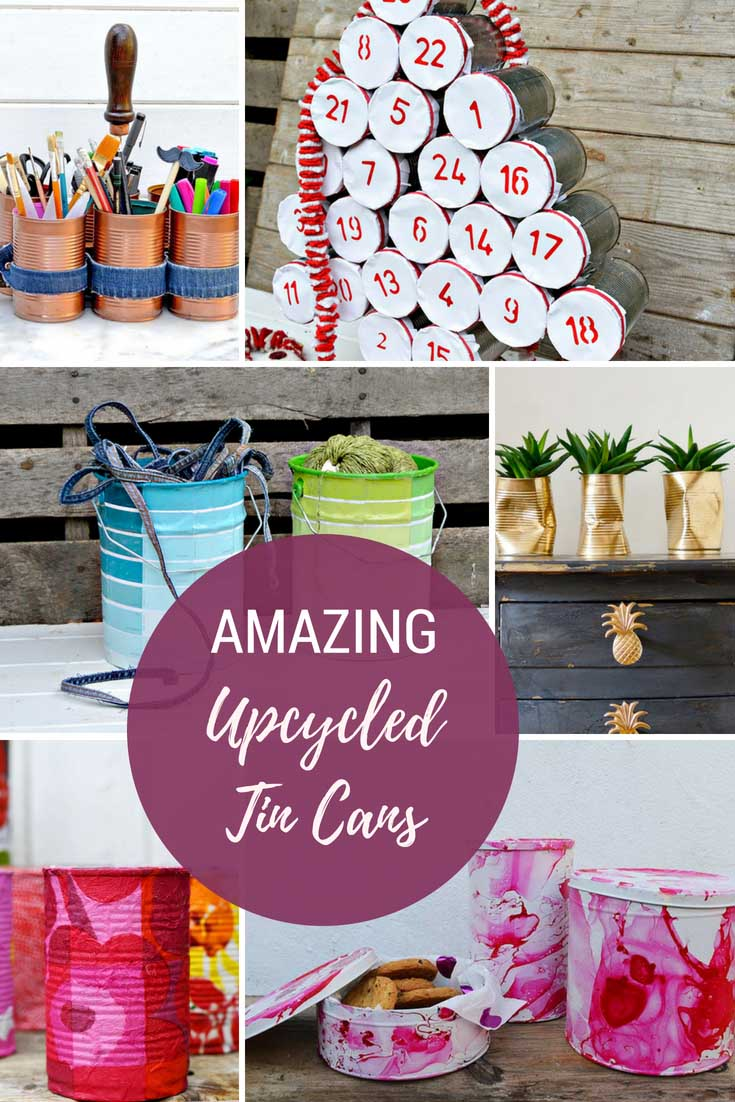 Amazing ways to upcycle tin cans