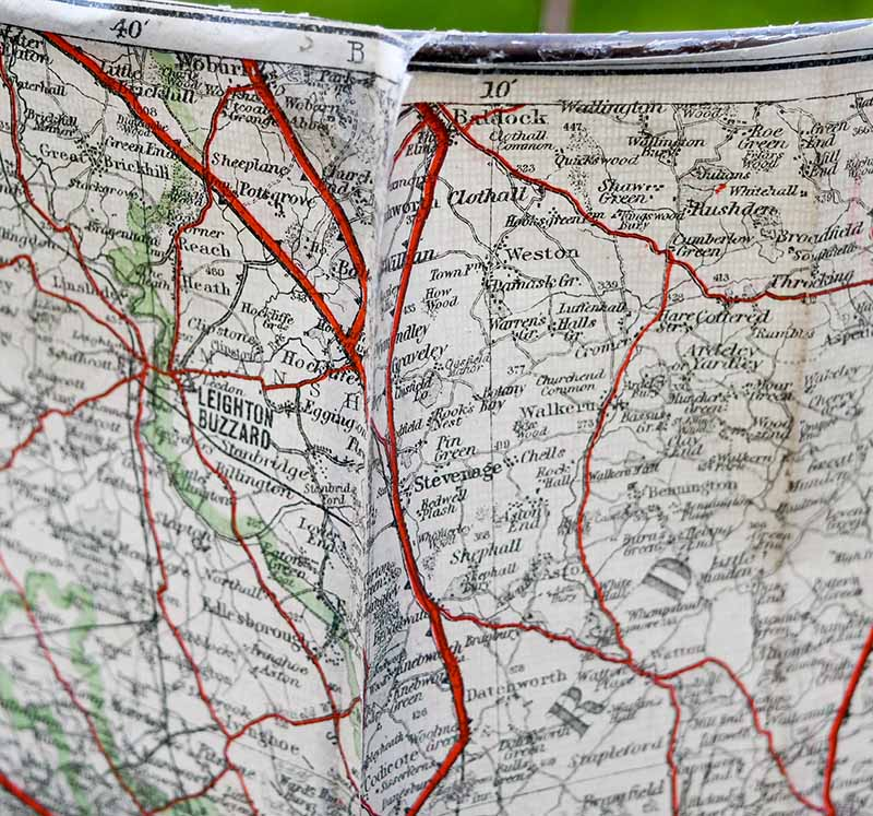 Pinching map edges together