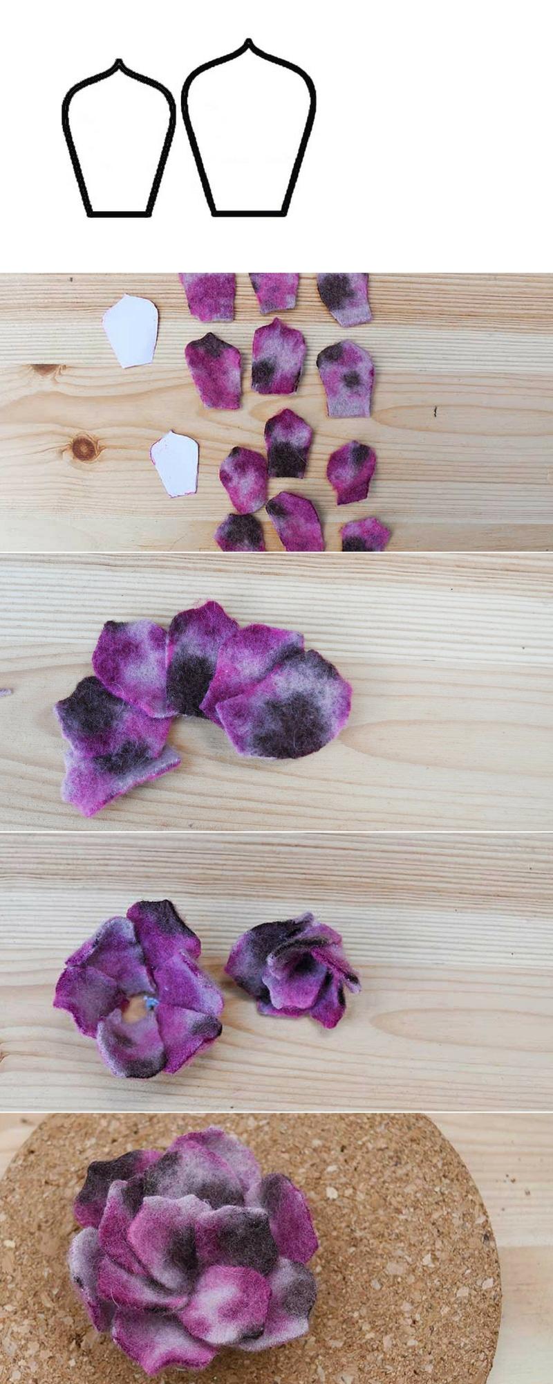 Faux flat petal succulent tutorial.