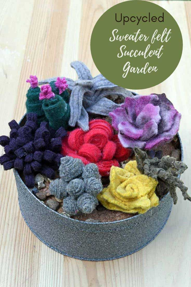 upcycled sweater felt gardens