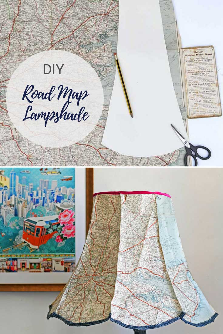 How to make a roadmap lampshade