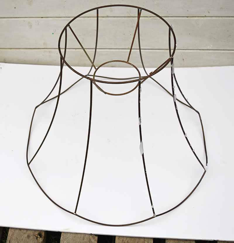 Scallop Lampshade wire frame