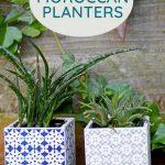 5 minute ceramic tile Moroccan Planters