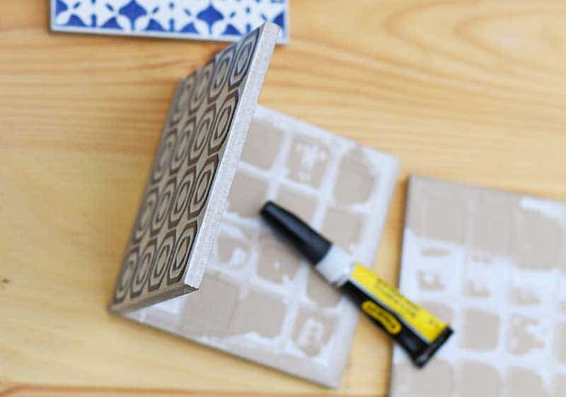 Sticking moroccan tiles at right angles.