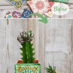 Mexican tile planters