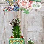 Mexican tile planters