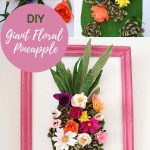 Giant floral pineapple wall decoration