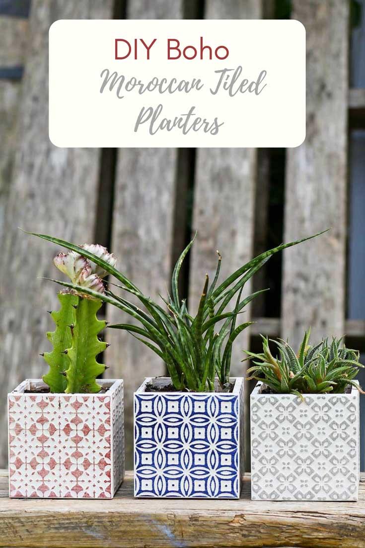 3 Square Moroccan Planters