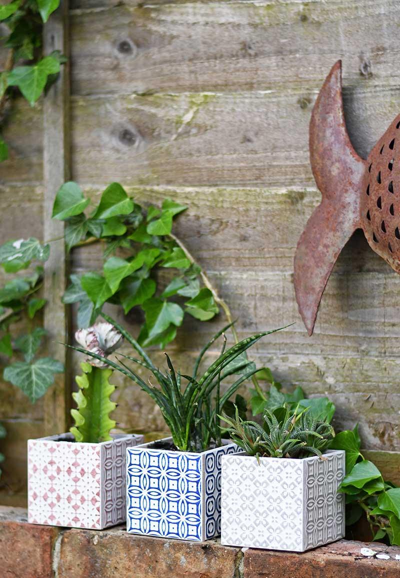 Easy cube boho Moroccan planters