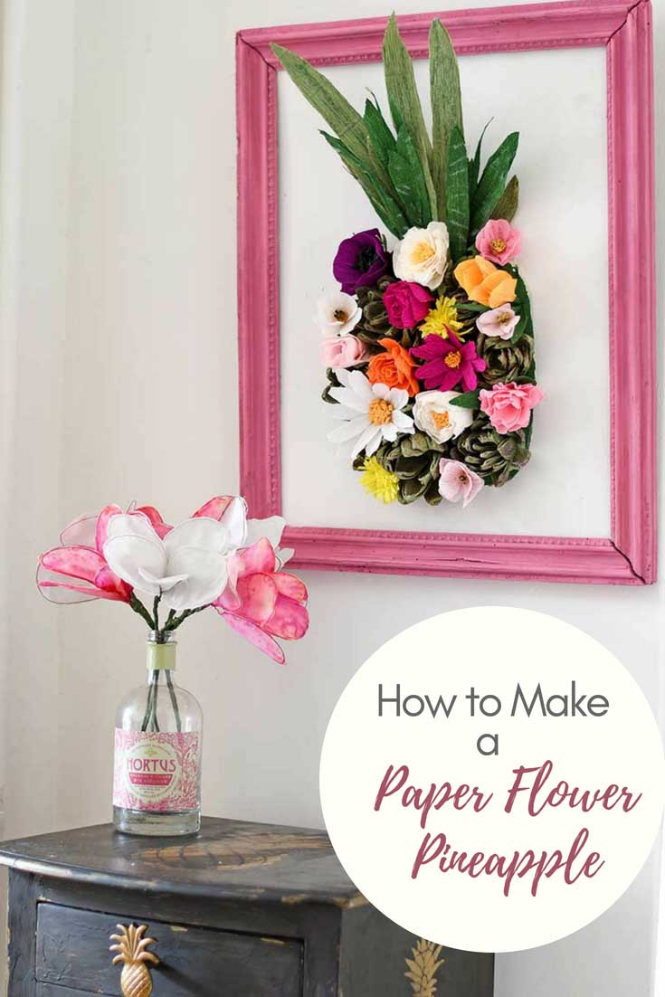 How To Make A Paper Flower Wall Decoration Pillar Box Blue