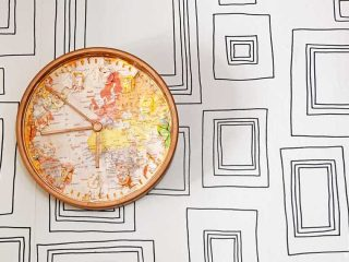 Ikea map wall clock hack