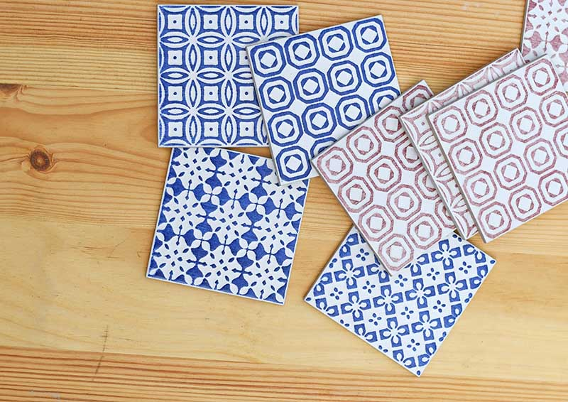 Moroccan wall tiles samples