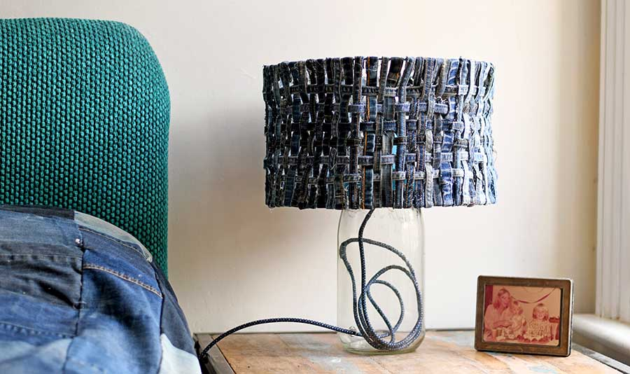 Unique table lamp farmhouse style