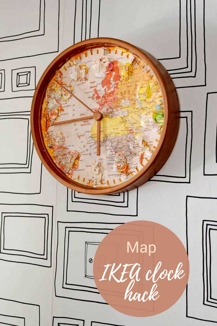 World Map IKEA clock hack