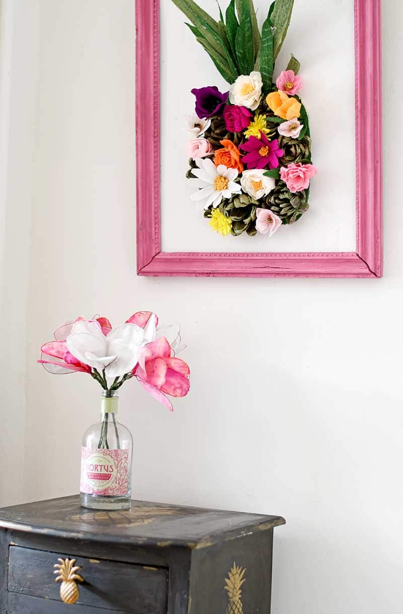 How to make a paper flower wall art