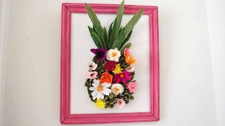 How to make a paper flower wall decoration pineapple