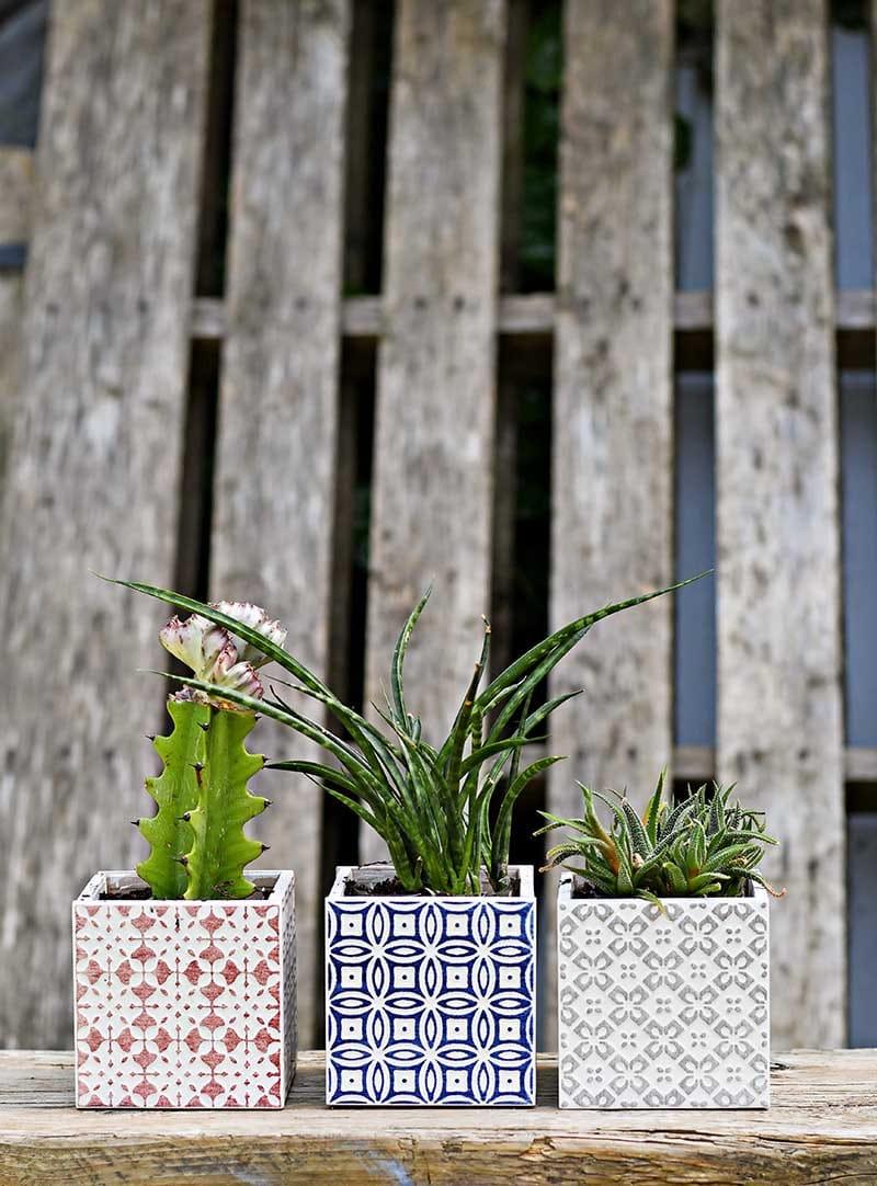 Tiled Boho Moroccan Planters