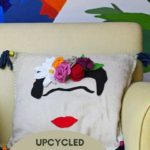 DIY fun Frida Kahlo pillow pattern