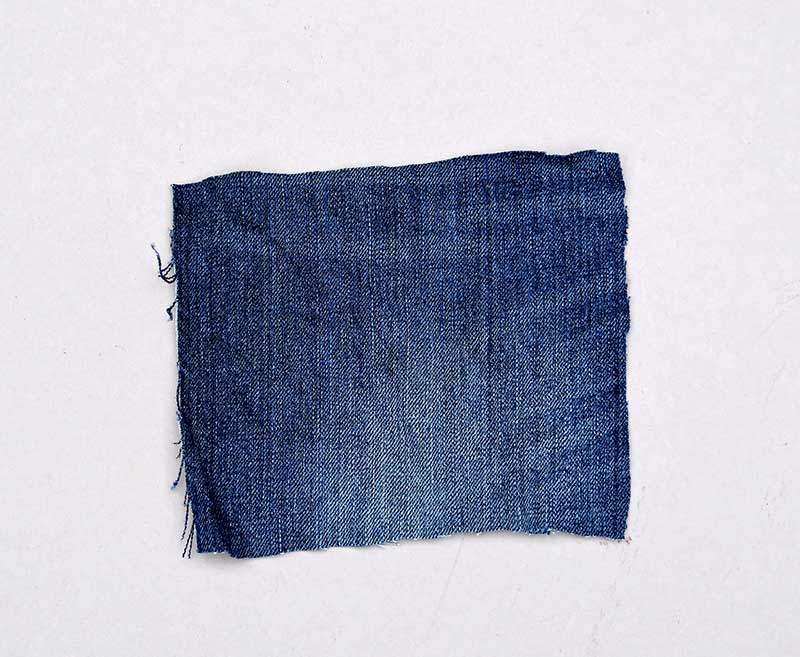 Scrap piece of denim