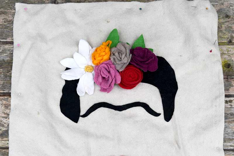 Frida Kahlo Felt flower headress