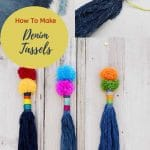 How to make tassels from denim pin 2