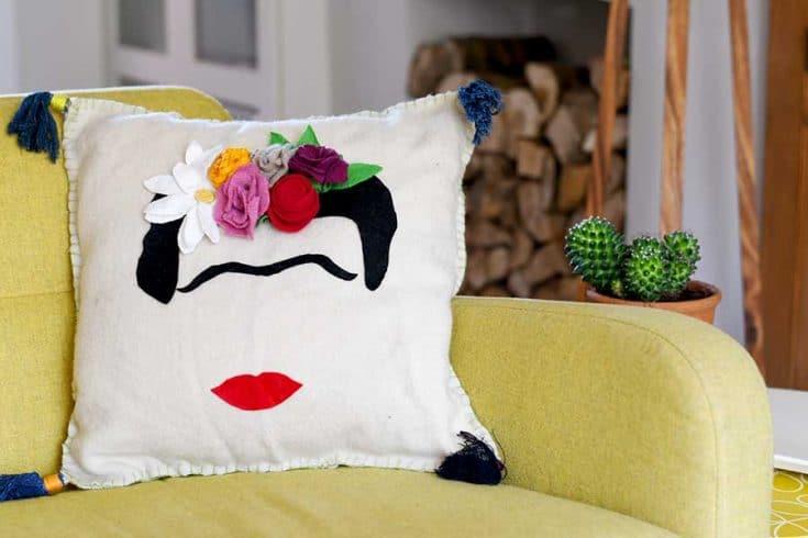 Free Pattern For A Fabulous Easy Frida Kahlo Cushion