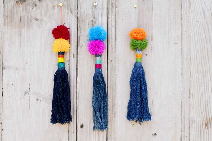 How To Make Tassels From Repurposed Denim