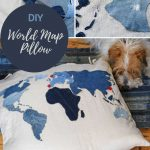 how to make a world map cushion