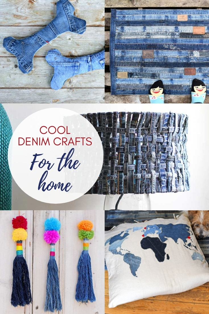 Cool upcycled denim crafts for the home