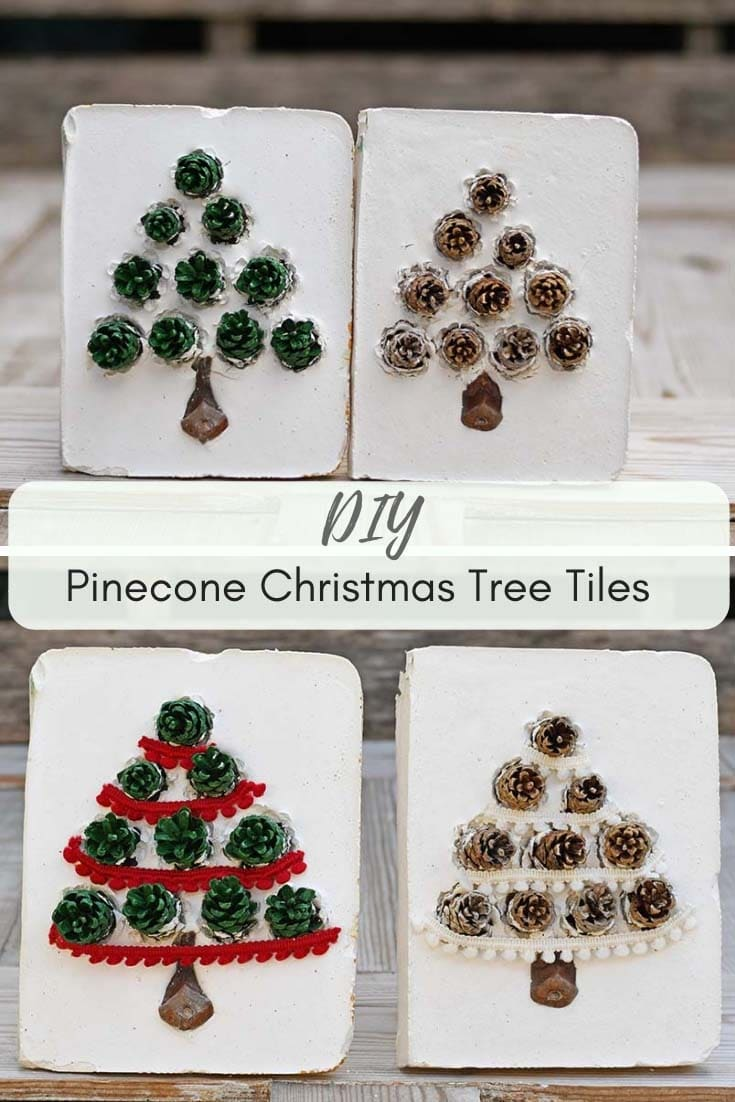 DIY christmas tree pinecone crafts