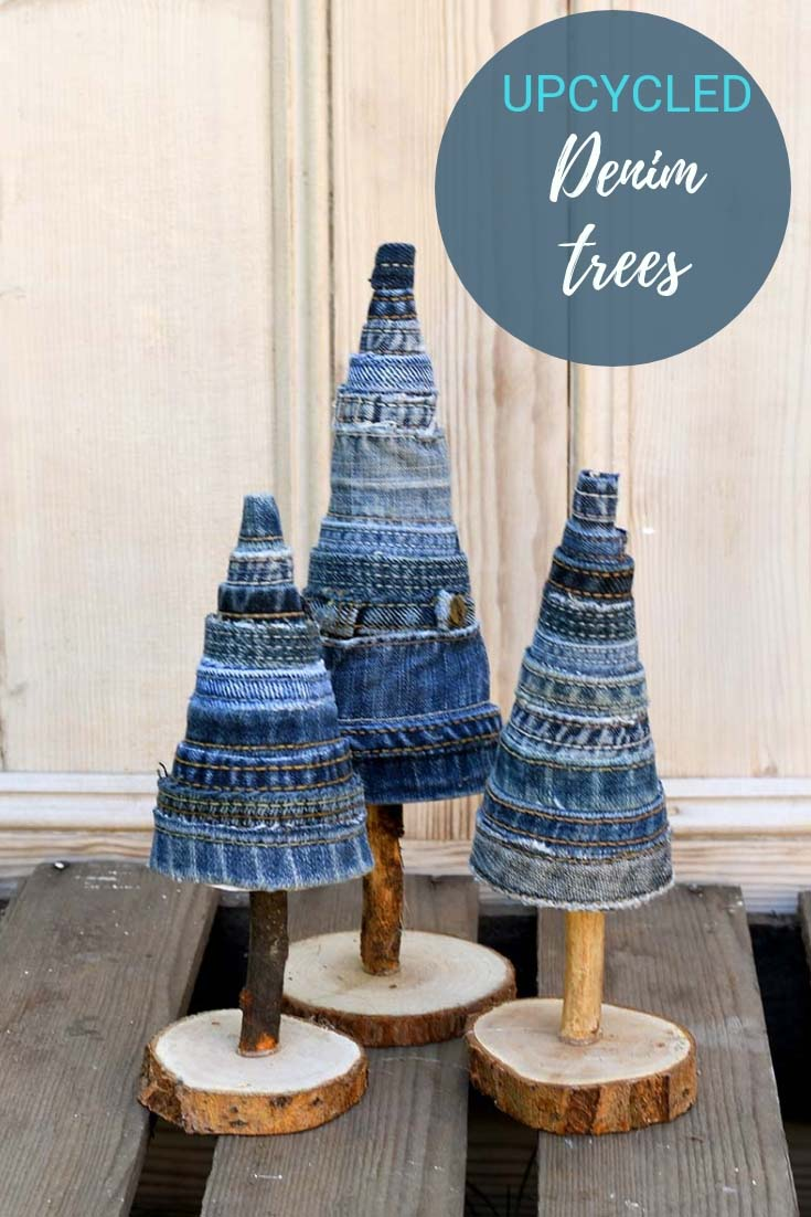 DIY denim trees