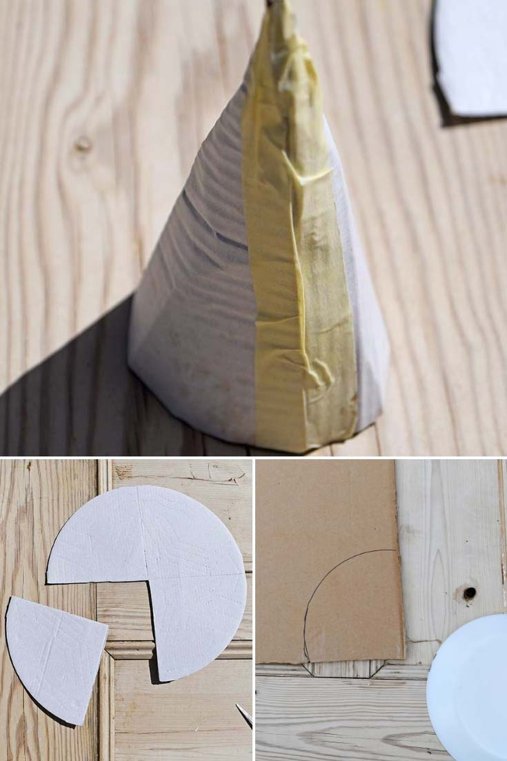Making cardboard cone