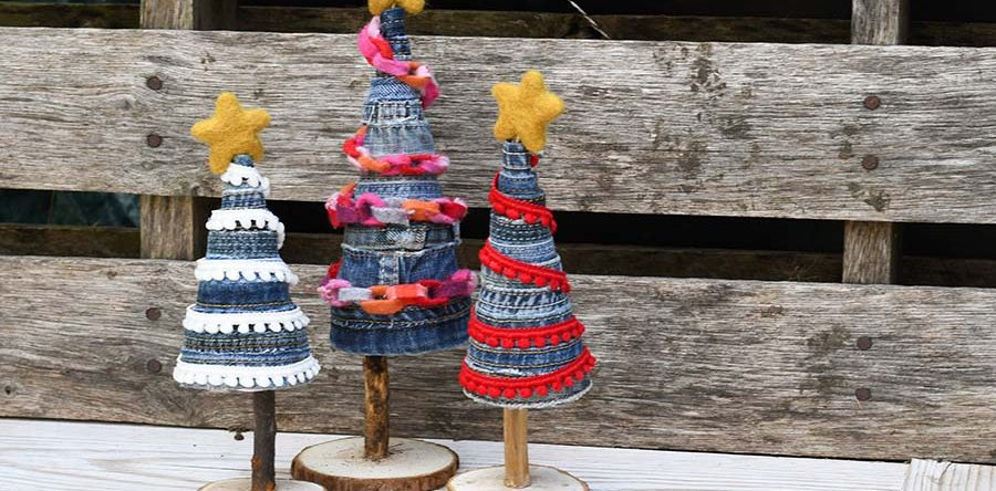 easy to make unique denim diy christmas tree - Diy Christmas Pictures
