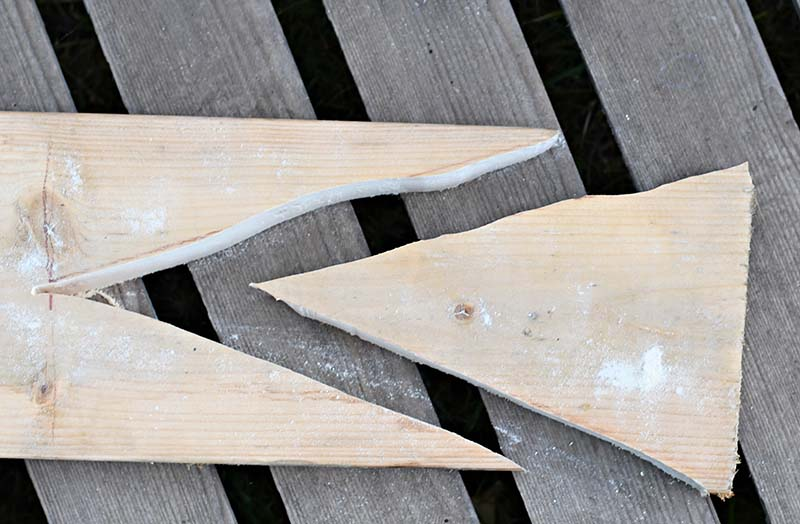 sawing wood triangle