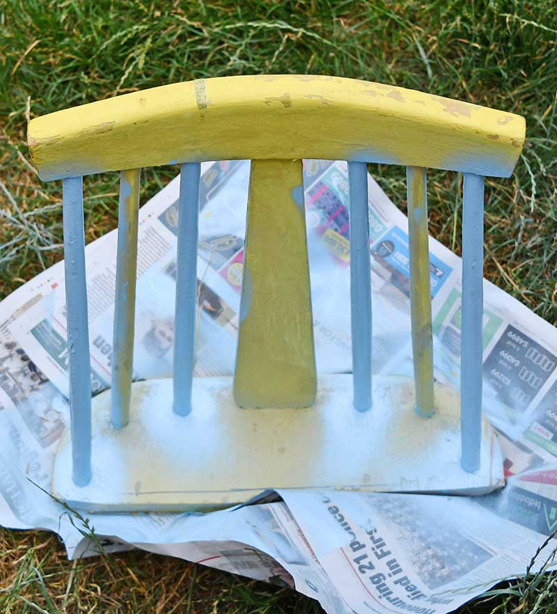 spray painting chair back
