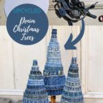 Upcycled Denim DIY Christmas tree