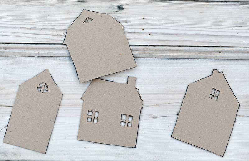 cardboard cutouts gingerbread house