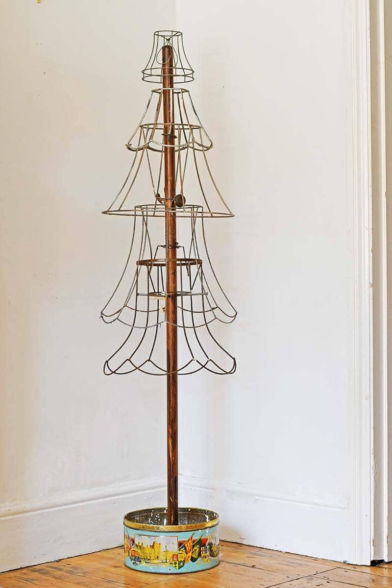 repurposed lamp wire rustic Christmas tree
