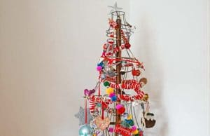 How To Make A Rustic Christmas Tree From Old Lampshades