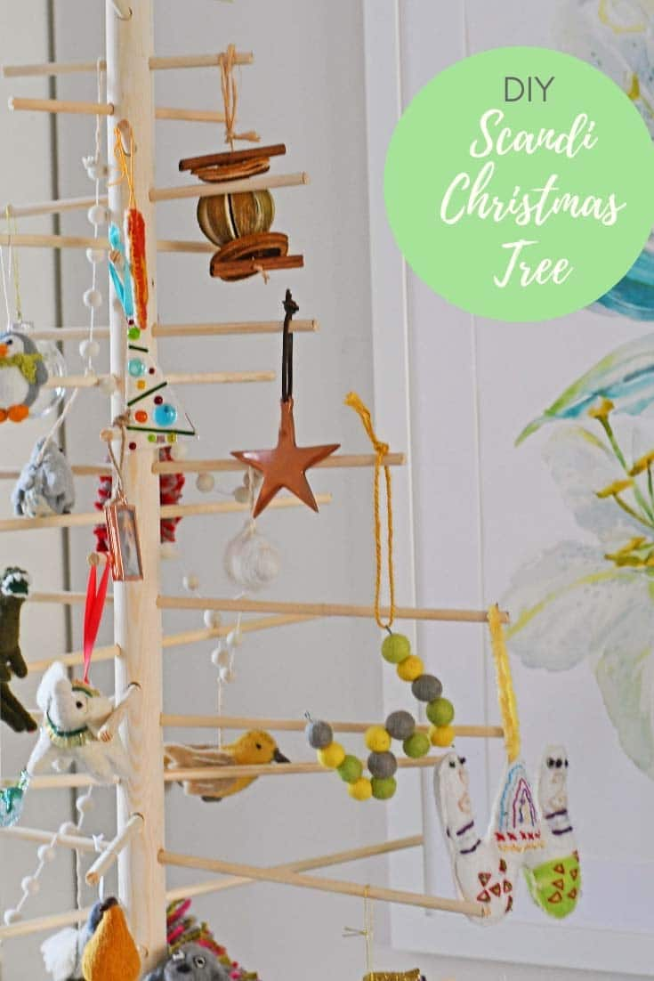 Decorated DIY Scandinavian Christmas tree